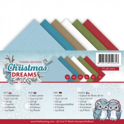 Set 24 feuilles Yvonne Creations - Christmas Dreams 13.5x27cm