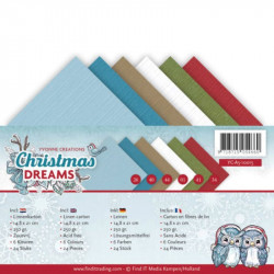 Set 24 feuilles  Yvonne Creations - Christmas Dreams A5 14.8 x 21 cm