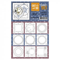 Dot and do Cartes n°22 - Lot de 9 Cartes seules