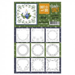 Dot and do Cartes n°23 - Lot de 9 Cartes seules