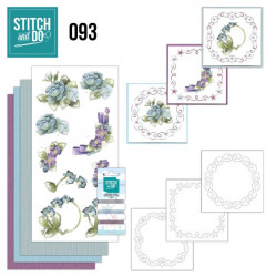 Stitch and do 93 - kit Carte 3D broderie - Fleurs d'hiver