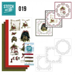 Stitch and do 19 - kit Carte 3D broderie - Noël