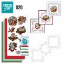 Stitch and do 20 Carte 3D broderie - Oiseaux à Noël