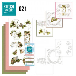 Stitch and do 21 - kit Carte 3D broderie - Noël rustique