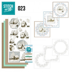 Stitch and do 23 - kit Carte 3D broderie - Villages enneigés