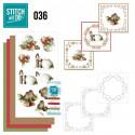 Stitch and do 36 Carte 3D broderie - Oiseaux et boules Noël