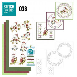 Stitch and do 38 - kit Carte 3D broderie - Enfants à Noël