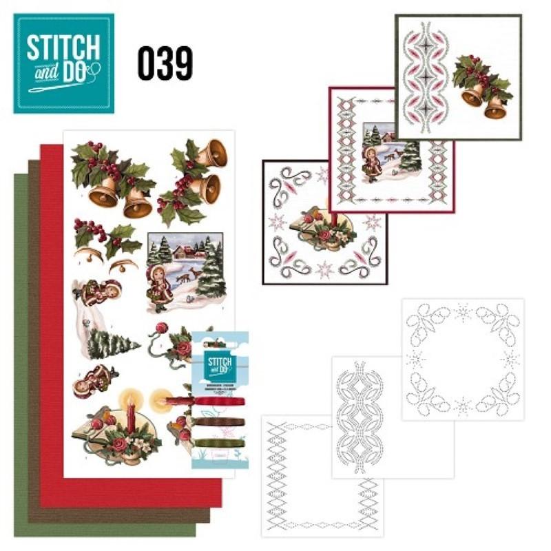 Stitch and do 39 Carte 3D broderie - Décorations de Noël