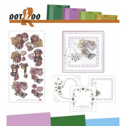 Dot and do 015 - Kit Carte 3D - Coeurs
