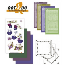 Dot and do 016 - Kit Carte 3D - Noël en mauve