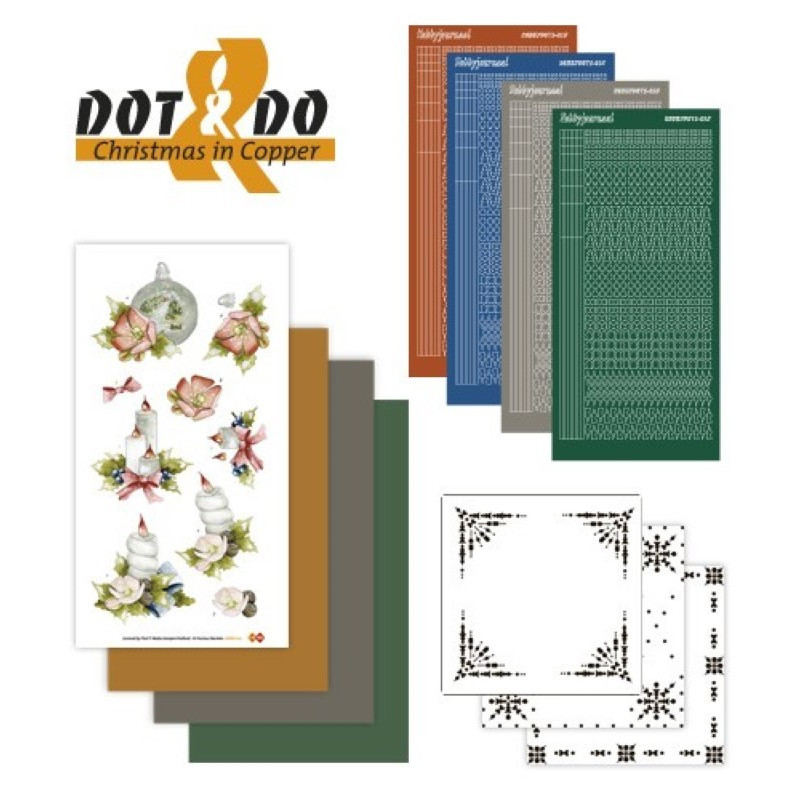 Dot and do 017 - Kit Carte 3D - Noël en cuivre