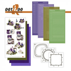Dot and do 021 - Kit Carte 3D - Enfants à Noël