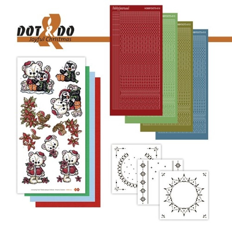 Dot and do 022 - Kit Carte 3D - Oursons et pingouins à Noël