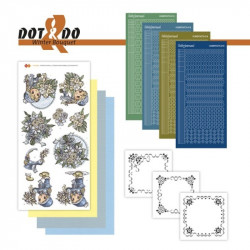 Dot and do 025 - Kit Carte 3D - Fleurs d'hiver