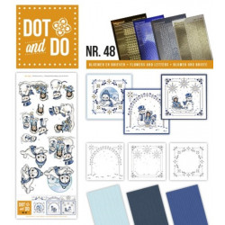 Dot and do 048 - Kit Carte 3D - Chouette c'est Noël