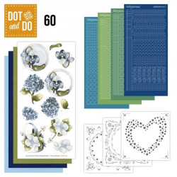 Dot and do 060 - kit Carte 3D - Fleurs bleues