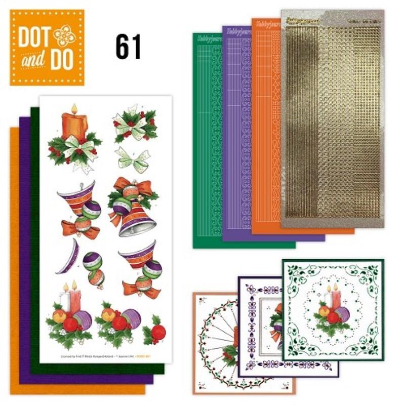 Dot and do 061 - kit Carte 3D - Cloches et boules de Noël