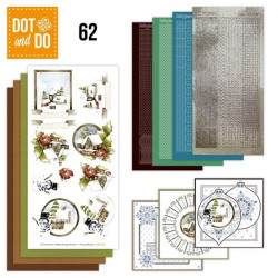 Dot and do 062 - kit Carte 3D - Paysages de Noël