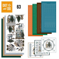 Dot and do 063 - kit Carte 3D - Intérieur Noël