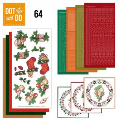 Dot and do 064 - kit Carte 3D - Décorations de Noël