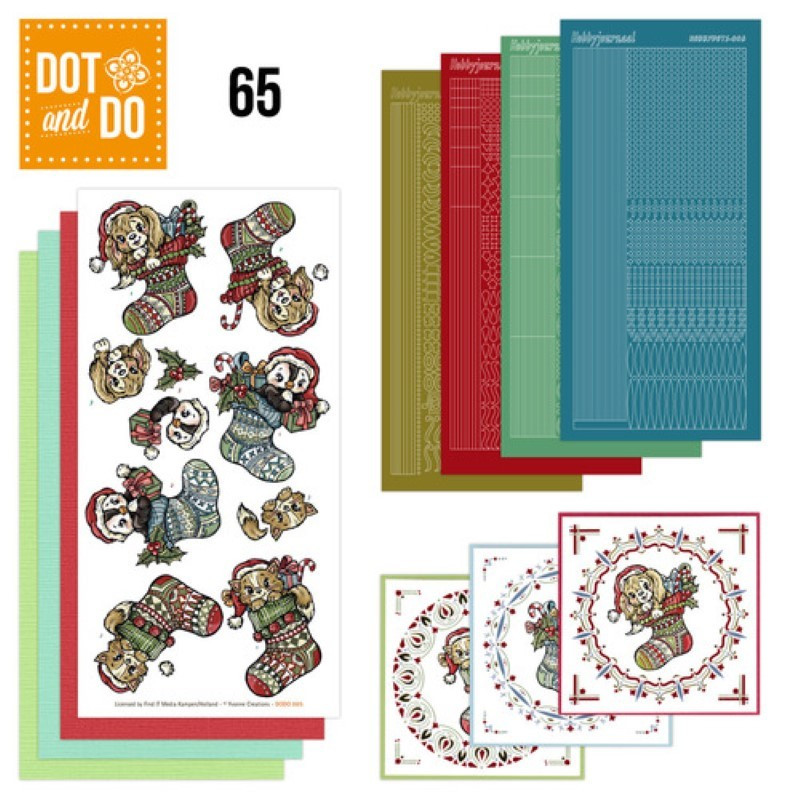 Dot and do 065 - kit Carte 3D - Animaux à Noël