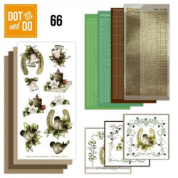 Dot and do 066 - kit Carte 3D - Oiseaux à Noël