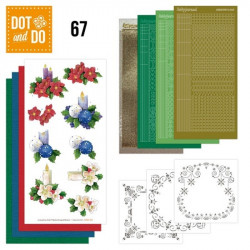 Dot and do 067 - kit Carte 3D - Bougies de Noël