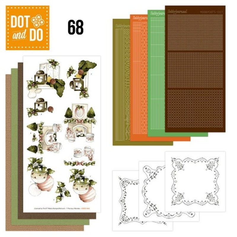 Image Carte Noel Vintage.Dot And Do 068 Kit Carte 3d Noel Vintage