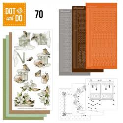 Dot and do 070 - kit Carte 3D - Oiseaux  dans la neige