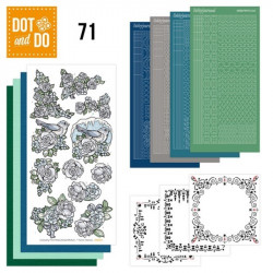 Dot and do 071 - kit Carte 3D - Fleurs blanches