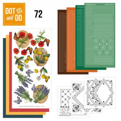 Dot and do 072 - kit Carte 3D - Fleurs et papillons