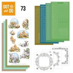 Dot and do 073 - kit Carte 3D - Bébés animaux
