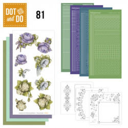 Dot and do 081 - kit Carte 3D - Fleurs mauves