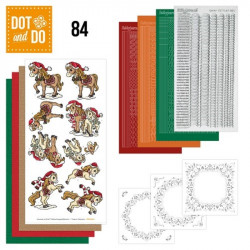 Dot and do 084 - kit Carte 3D - Chevaux à Noël