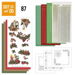 Dot and do 087 - kit Carte 3D - Bougies et couronnes de Noël