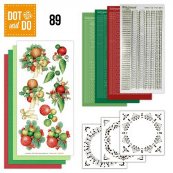 Dot and do 089 - kit Carte 3D - Boules de Noël