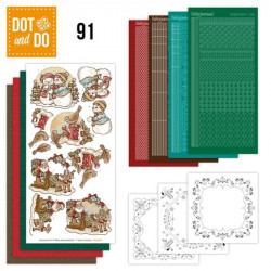 Dot and do 091 - kit Carte 3D - Père Noël