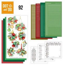 Dot and do 092 - kit Carte 3D - Boules de Noël