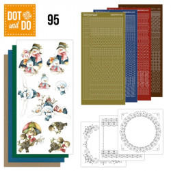 Dot and do 095 - kit Carte 3D - Bonhommes de neige