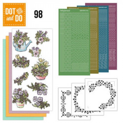 Dot and do 098 - kit Carte 3D - Pots de fleurs