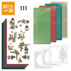 Dot and do 111 - kit Carte 3D - Lanternes en hiver