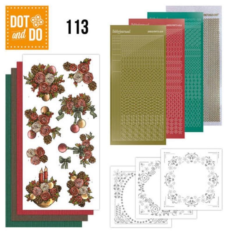 Dot and do 113 - kit Carte 3D - Fleurs de Noël