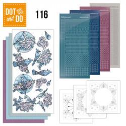 Dot and do 116 - kit Carte 3D - Fleurs et oiseaux