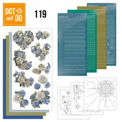 Dot and do 119 - kit Carte 3D - Fleurs Vintage
