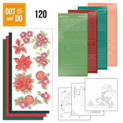 Dot and do 120 - kit Carte 3D - Poinsettias