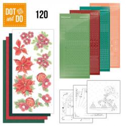 Dot and do 120 - kit Carte 3D - Poinsettias