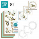Stitch and do 41 Carte 3D broderie - Oiseaux en hiver
