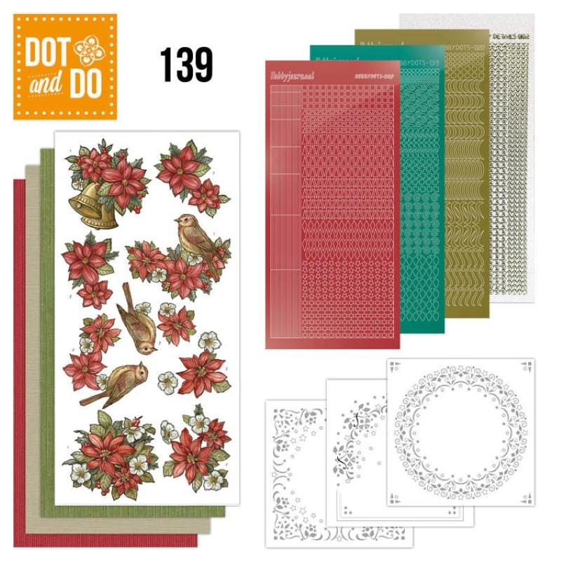 Dot and do 139 - kit Carte 3D - Poinsettias de Noël