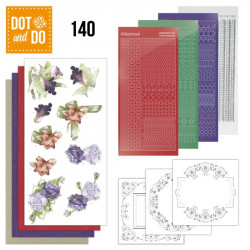 Dot and do 140 - kit Carte 3D - Fleurs d'hiver