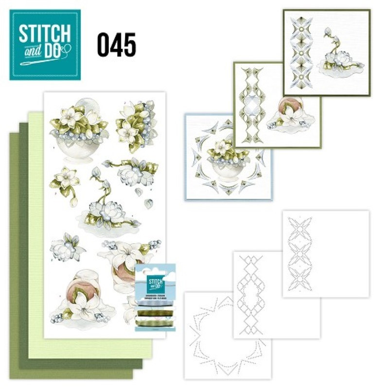 Stitch and do 45 Carte 3D broderie - Fleurs de Noël